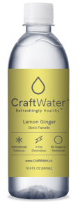 Lemon Ginger Flavored Water with No Sugar & Electrolytes