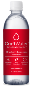 Strawberry Lemonade Flavored Water with Electrolytes